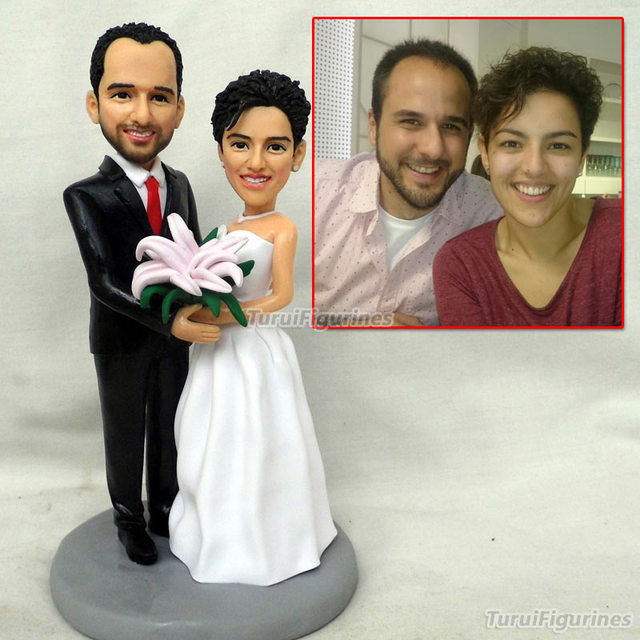 Special Gift Wedding Toys Mini Wax Figure Custom Birthday Bride And