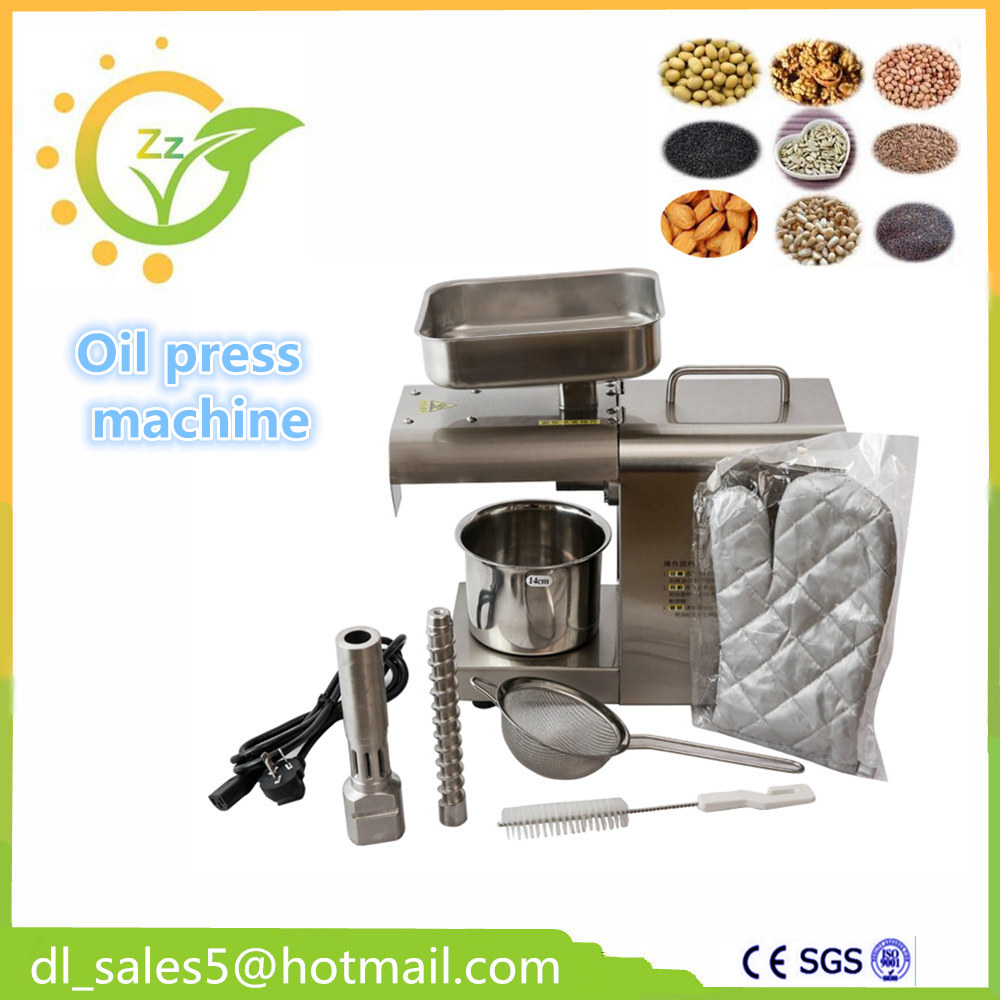 oil expeller cold oil press mini oil press machine for home Stainless steel automatic small seed oil extraction machine