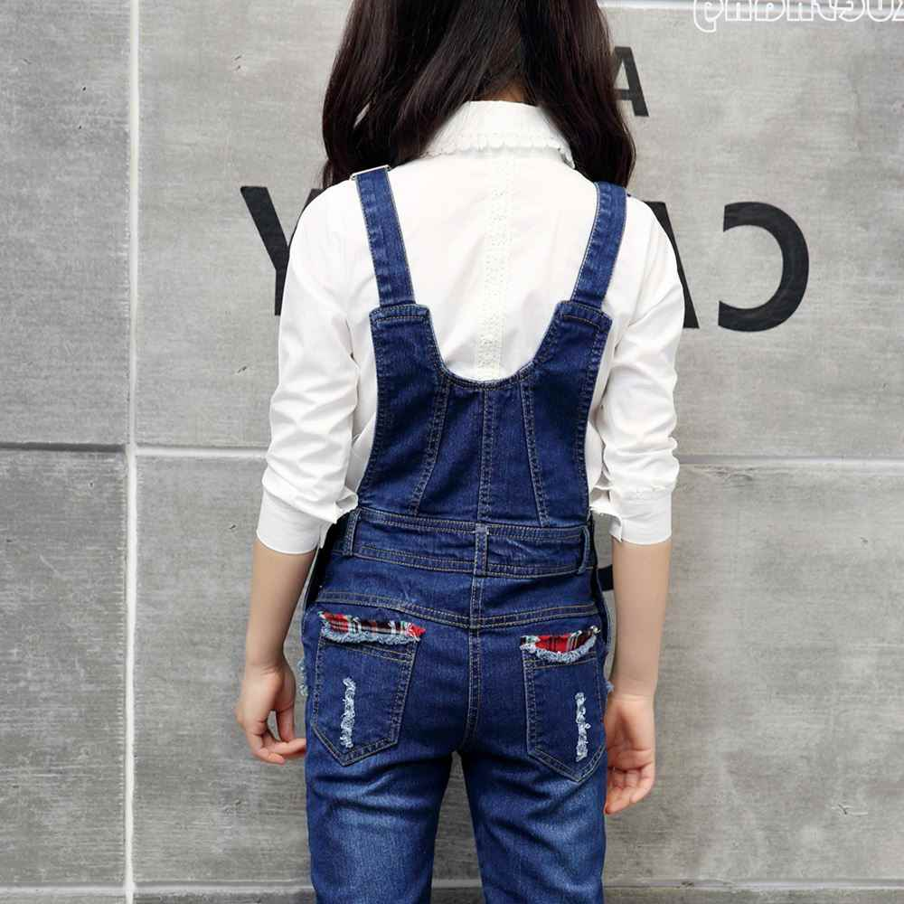 a00483c48 ... 2019 new spring baby girls jumpsuit rompers autumn fashion washed jeans  children denim romper suspenders trousers ...