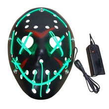 Blck Cool Hlloween Msk LED Light Up Blck Msk from The Election Yer Gret for Festivl Cosply Hlloween Costume Json Msk test msk