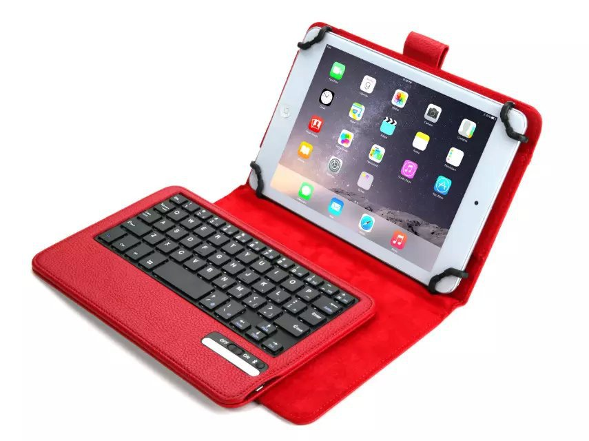 New Russian-English Letter Removable Wireless Bluetooth Keyboard & Leather Stand Case Cover For 7-8 Inch Universal Tablet removable wireless bluetooth russian hebrew spanish keyboard stand pu leather case for samsung galaxy tab a 9 7 t555 t551 t550