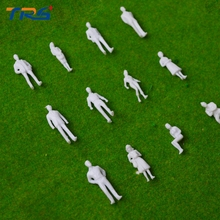 FREE SHIPPING 500PCS  1/50 scale model white figures/people for train layout