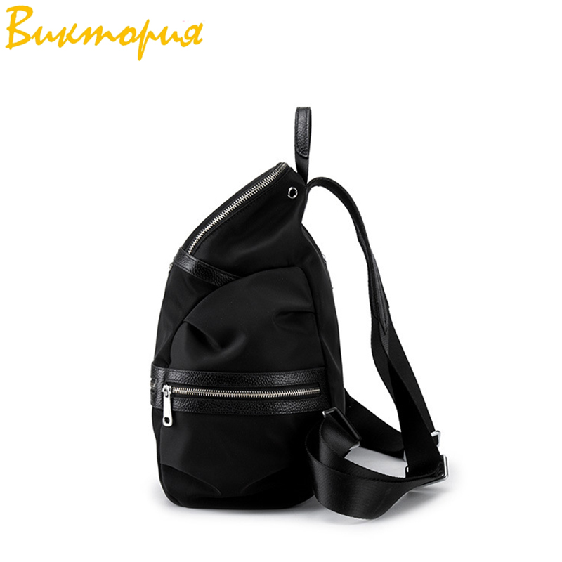 Sac à dos en tissu Oxford CHARA'S sac de voyage Anti-vol sac à dos femme Wangka USB sacs à dos blanc cassé 2019 nouveau - 4