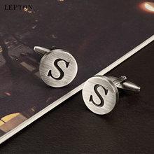 Запонки «Алфавит» lepton с надписью s of an запонки для мужчин