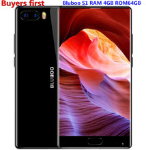 "Bluboo S1 5.5"" FHD 4G Smartphone Bezel-less Helio P25 Octa Core Android 7.0 4GB RAM 64GB ROM 13MP Dual Rear Camera Mobile Phone"