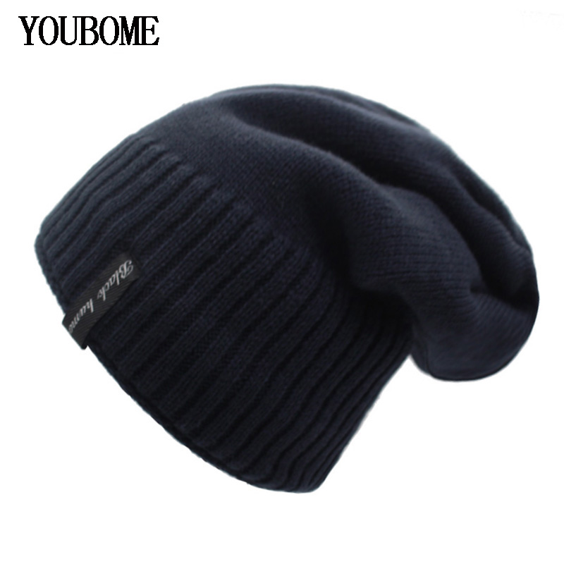 38f30dfaf71 YOUBOME Winter Men Knitted Hat Women Skullies Beanies Hats For Men Mask  Gorras