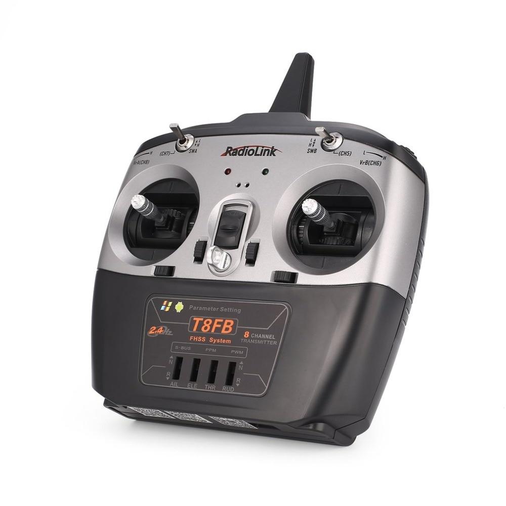 Radio télécommande émetteur Radiolink T8FB 8CH avec récepteur R8EF pour Drone hélicoptère avion RC main gauche