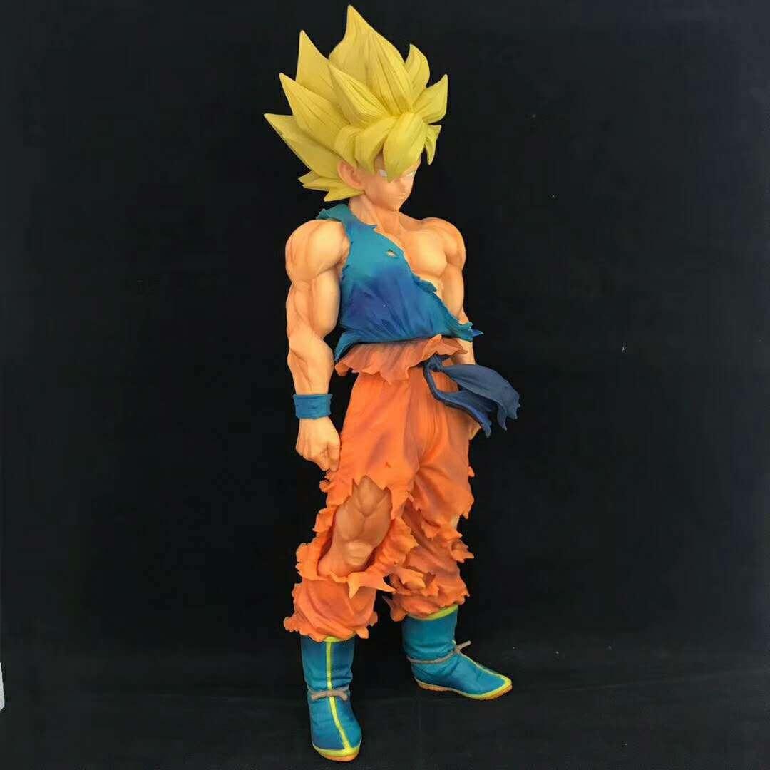 34cm Dragon Ball Dragonball MSP DragonBall GOKU Super Saiya Colorful ver. PVC Action Figure Collectible Model Toy