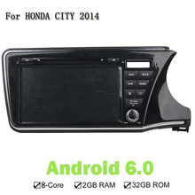 9 Inches 2 Din Octa 8 Core Android 6.0 GPS Navi Car DVD Player For Honda City 2014 Radio 32G ROM 2G RAM  Built-In Speaker/Mic