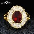 Cuatro color cubic zirconia anillo de cóctel chapado en oro de joyería de moda anillos cristalinos para las mujeres (jewelora ri101307)