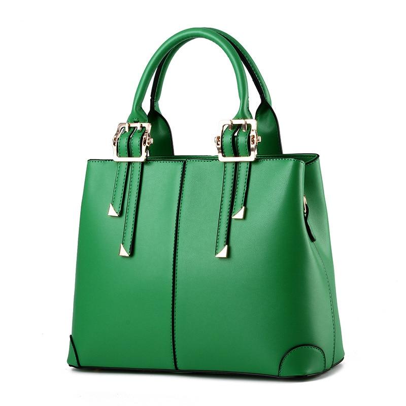 все цены на Fashion Green PU Elegant Office Lady Shoulder Bag Women Handbag Casual Clutch Zipper Tote онлайн
