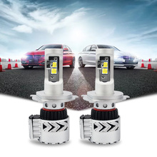 Taitian 2Pcs CSP 72W 12000LM 6500K H7 H11 9005 9006 H4 9003 Hi/Lo Car Bulb Canbus LED Headlight 12V Lamp Bulbs Kit for passat