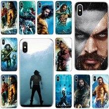 Película de DC Comics Aquaman cubierta de silicona suave de TPU funda de teléfono para iPhone 5 5C 5S SE 6 6 s 6 más 7 6 s más 7plus 8 8plus X XS X XR XS.