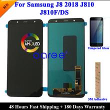 100 Super AMOLED LCD do Samsunga J8 2018 LCD J810 LCD do Samsunga J8 2018 J810 ekran LCD dotykowy digitizer montaż tanie tanio 2560x1440 Pojemnościowy ekran For SAM J810 3 Nowy LCD i ekran dotykowy Digitizer ATELKOM Black 6 MONTHS For Samsung J8 2018 lcd J810 J810F DS LCD