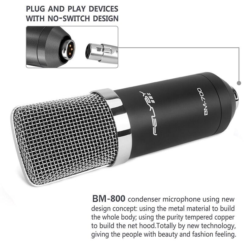 FELYBY BM700 Profesional de Alta Calidad de 3.5mm Micrófono con - Audio y video portátil - foto 4