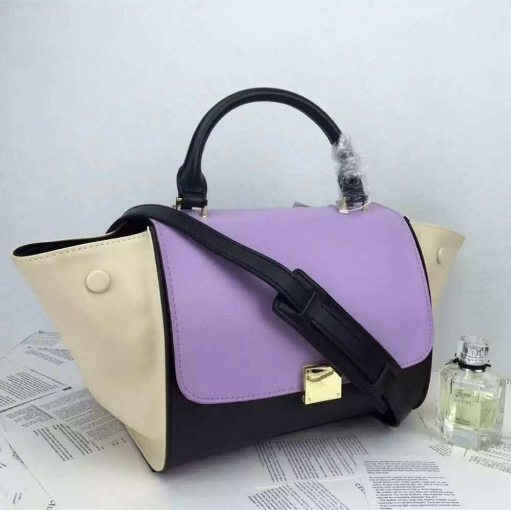 6cc7d89bb90f Luxury Brand C Bags Genuine Leather Line Women Smiley Bag Trapeze Lady Handbags  Phantom Shoulder Bags Sac A Main Femme De Marque-in Shoulder Bags from ...