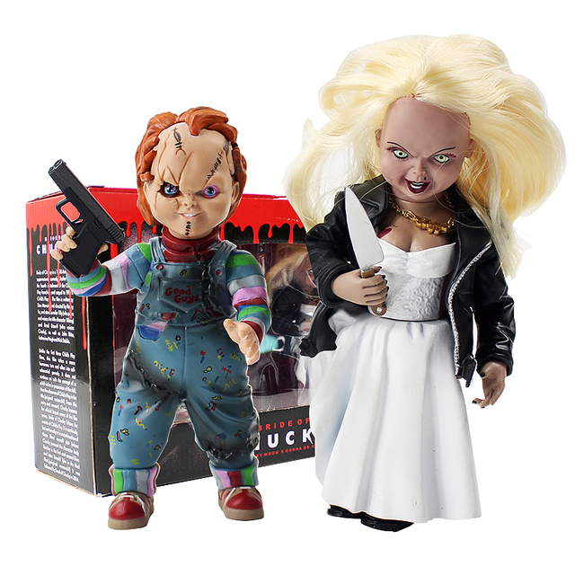 Childs Play Bride Of Chucky Doll Chucky Tiffany Pvc Horror Action