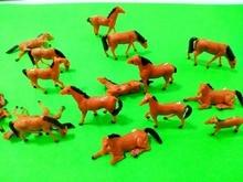 Teraysun 100pcs 1:150 painted Farm Animals Horses MIniature Plastic Scale Model Horse