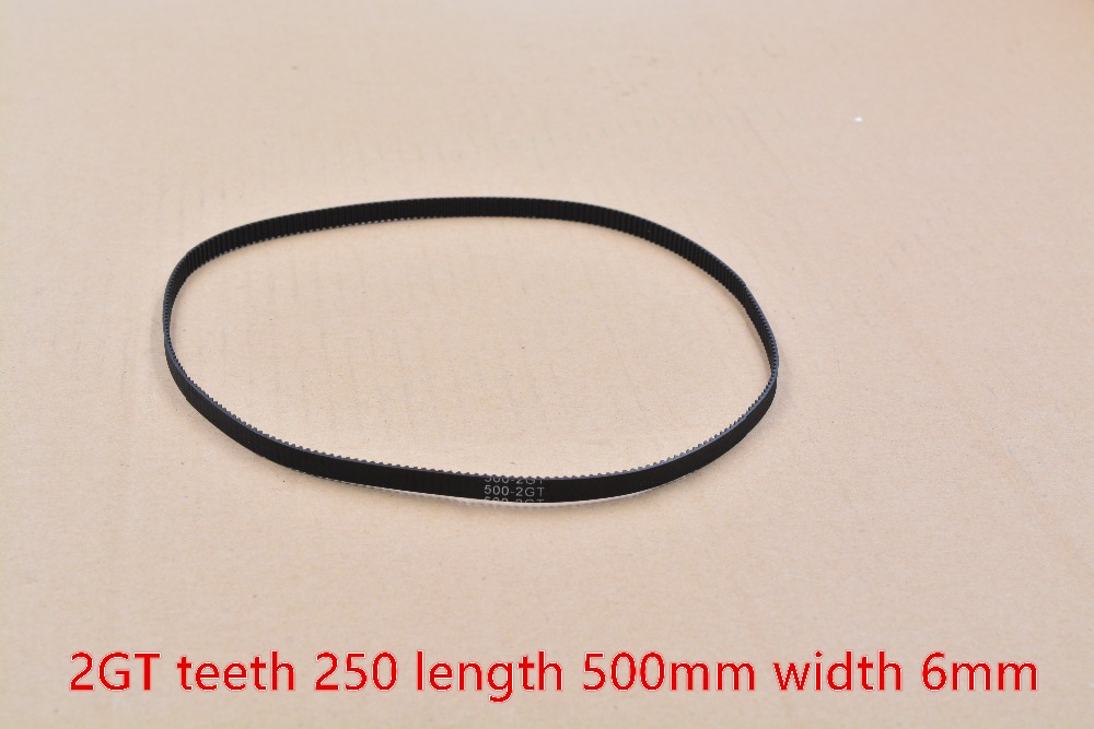 <font><b>3d</b></font> <font><b>printer</b></font> belt closed loop rubber 2GT timing belt teeth 250 length <font><b>500mm</b></font> width 6mm 500-2GT-6 1pcs image