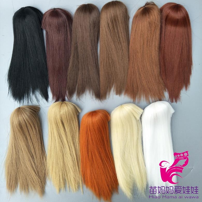 head circel straight doll hair for barbie doll repair diy BJD 1/12 Doll Wig Hair 1 3 1 4 1 6 1 8 1 12 bjd wigs fashion light gray fur wig bjd sd short wig for diy dollfie