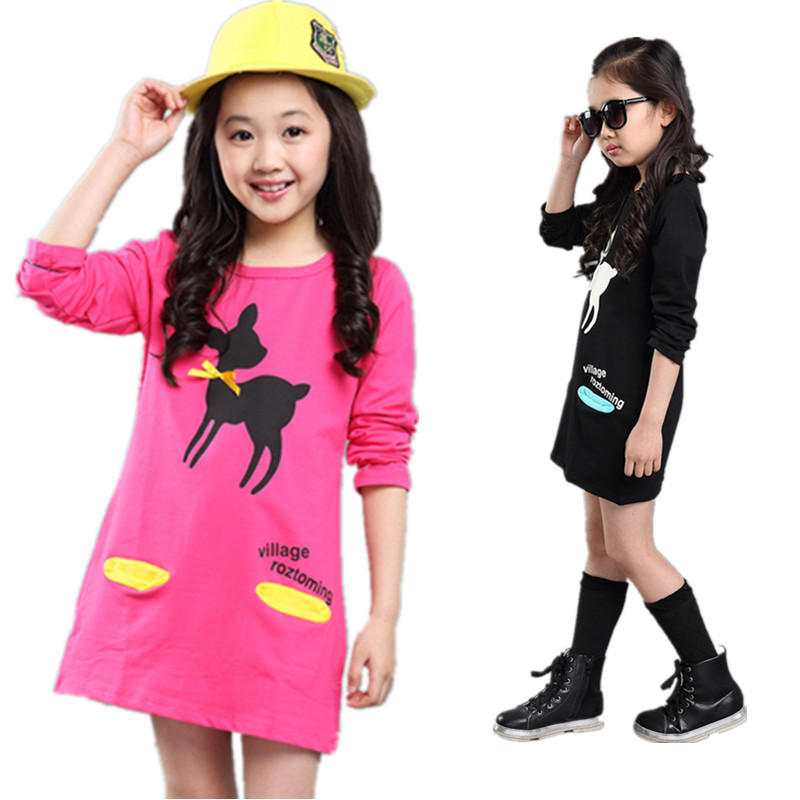 V tree new fashion spring autumn t shirts for girls cute for New shirt style for girl