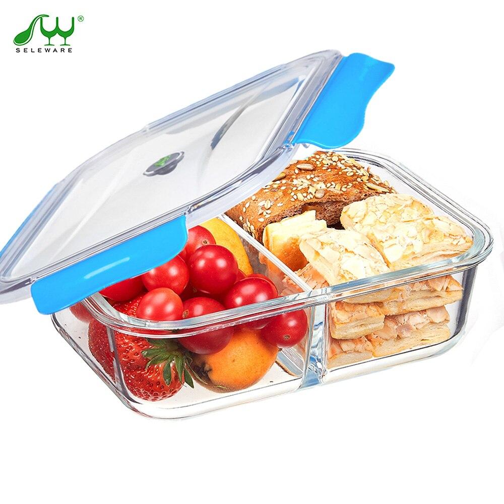 Szklo Zestaw Obiadowy Pojemnik Na Zywnosc Z Przegrodkami Bento Box