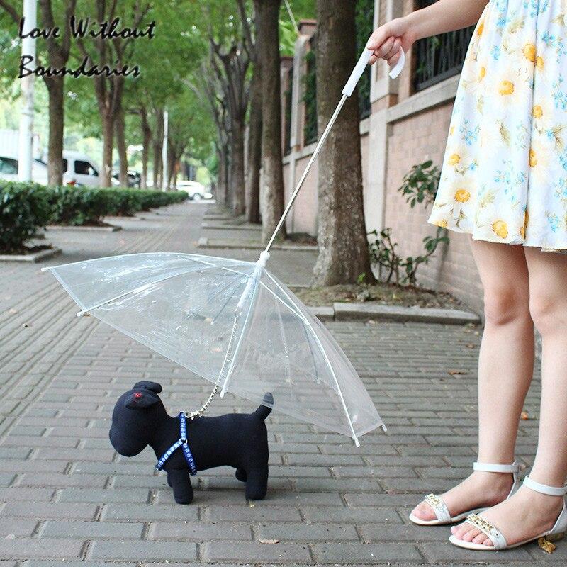 Горячий питомец защитный Зонт от дождя модный Солнечный зонтик имеет Tring для прогулки для собаки дождевик для животных собачий канат ошейни