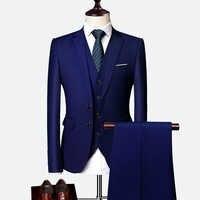 Vestito maschio 3 Pezzi regalo di Affari set abiti da Uomo 2019 Autunno high-end Formale blazer Slim Fit festa di nozze di grandi dimensioni vestito boutique