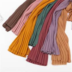 2019 мусульманские женщины пузырь жатый шифон хиджаб шарф женский шарф musulman платки исламские платок одежда хиджаб