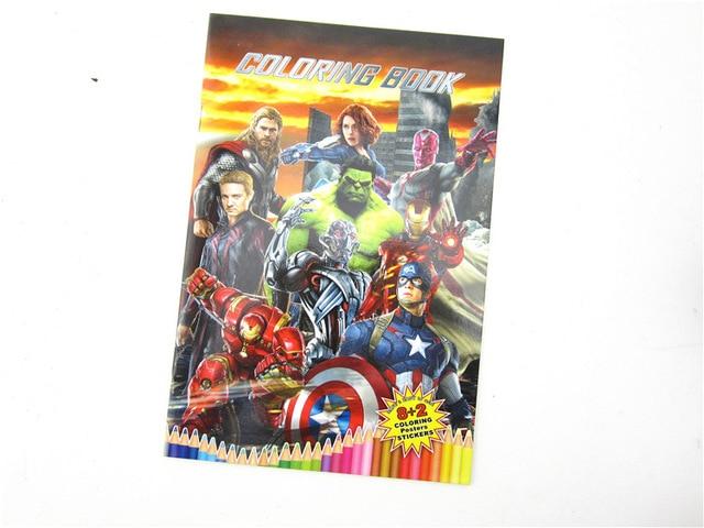 disney anime the avengers educational diy scrapbooking stickers