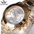 Famosa Marca de Topo relógio de Ouro Dos Homens de Negócios 6 função 24 Horas Data de Mão de Luxo Relógio Mecânico Automático Relógios de Esportes de Lazer