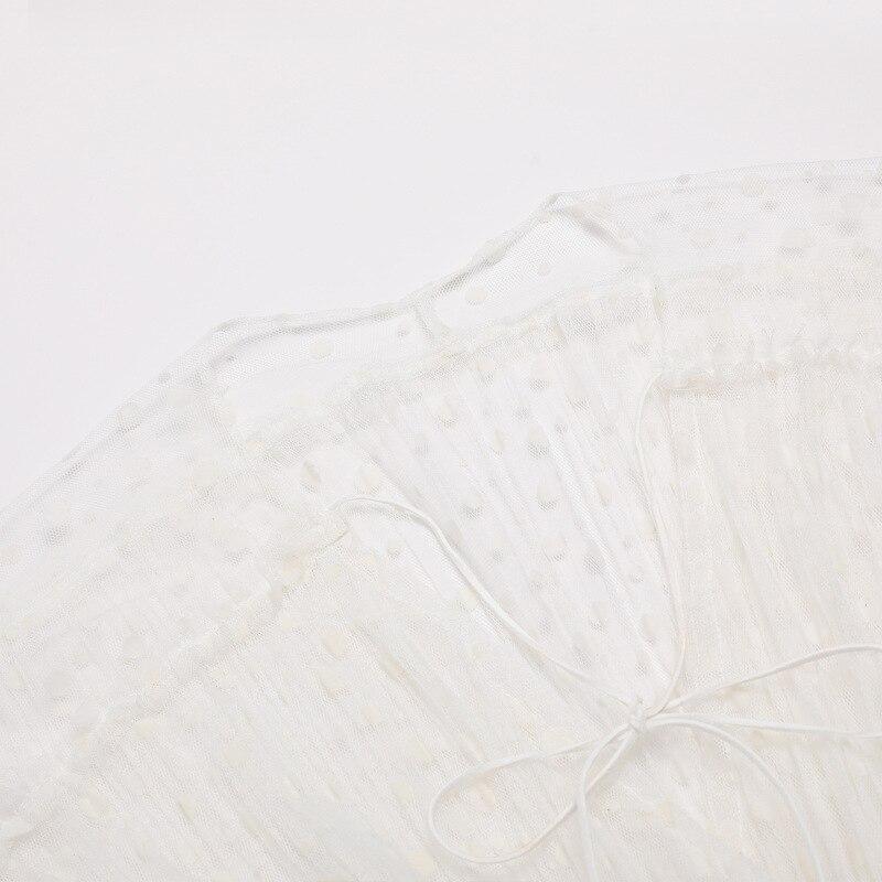 V Édition Grand Tempérament Cou Robe D'épaule Nouveau De Douille Gaze Blanc Fée Même x4wCa0qa