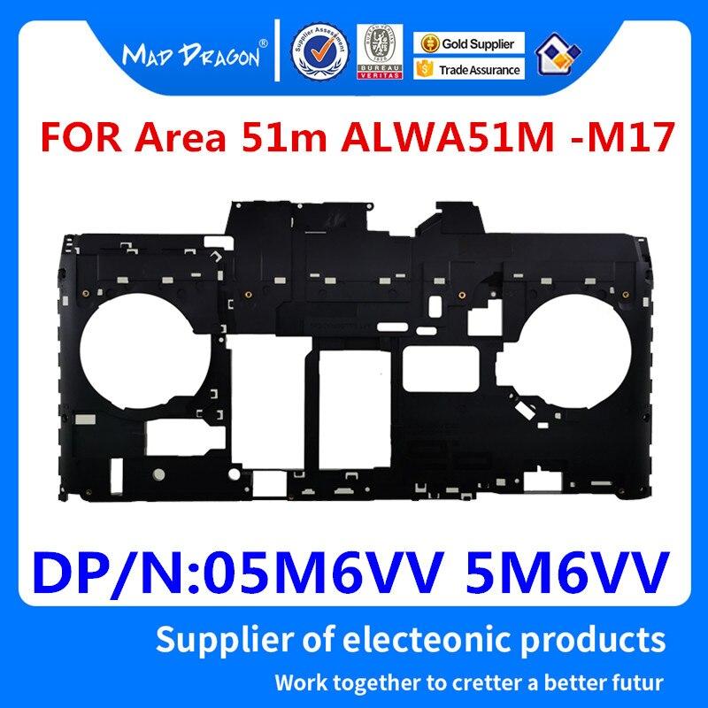 MAD DRAGON marque ordinateur portable nouvelle Base inférieure couvercle boîtier inférieur ASSY coque noire pour Dell Alienware zone 51 m ALWA51M-M17 05M6VV 5M6VV