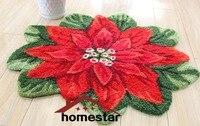 Embroideried פרח מחצלת שטיח מקיר לקיר אדום חג המולד דקורטיבי פרחוני carpet שטיח מחצלת דלת אמבט Mat פינת שטיח רצפת עונתי דקור מחצלת