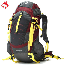 Híres márka 45L Sporttas Kültéri sportok Gyaloglás és kirándulás Hátizsák táska Kemping Utazás Hegymászás Trekking hátizsák táskák
