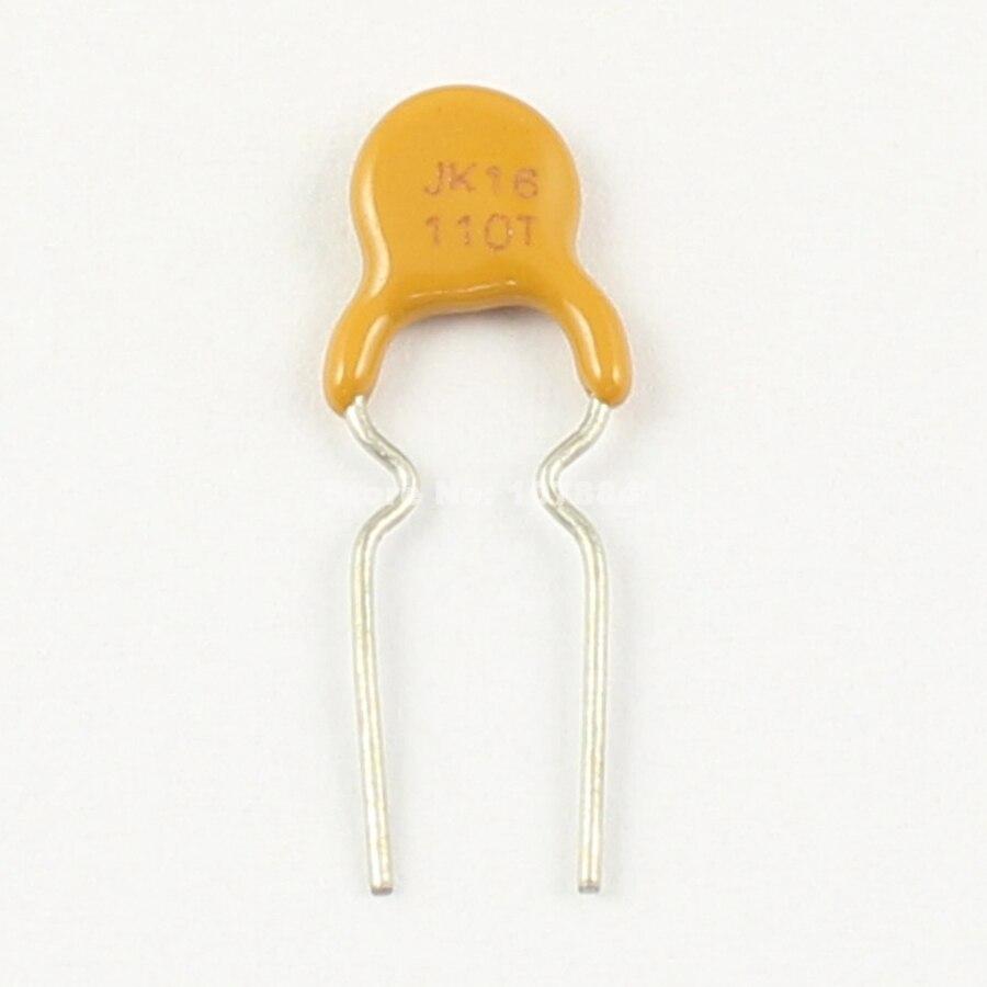 Fusível resettable 16v 1.1a 100 do mergulho de jinke pptc do polímero de JK16-110T pces por lote novo