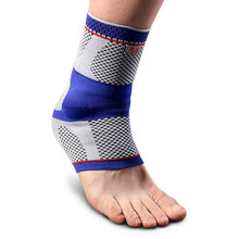 Kuangmi Compression Ankle Sleeve Silicone Pad Support Injury Recovery Sports Safety Breathable Football Sock Protector 1PC