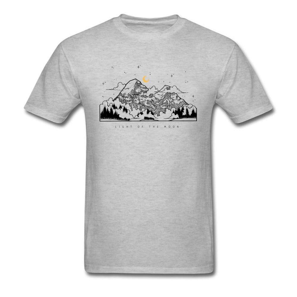 Для мужчин топы и тройники свет луны Фирменная Новинка Летние футболки из 100% хлопка короткий рукав Летняя футболка футболки с круглым вырез...