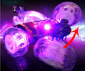 Трюк автомобиль с ярким светом RC дистанционного управления автомобилем электрические игрушки дамп-автомобиль мини-самосвал роллинг вращающееся колесо автомобиля думпкаров грузовик