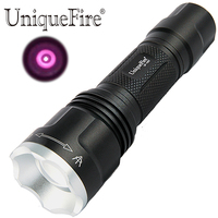 UniqueFire 1507 Zoomable LED Flashlight 940NM IR Led Bulb 20mm lens Outdoor Hunting Laser Infrared Torch Night Vision