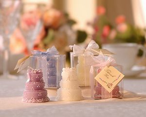 wedding party favor candle gifts for guests - Deluxe Wedding Cake Candle party gift Candle decoration 60pcs/lot
