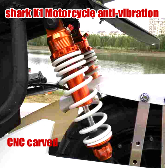 shark K1 Motorcycle shock absorber absorption damping anti-vibration  motorcycle modification  125 sports motor 4 colors fid closed damping ball group rod shock absorber cap for lt 5t 1 set