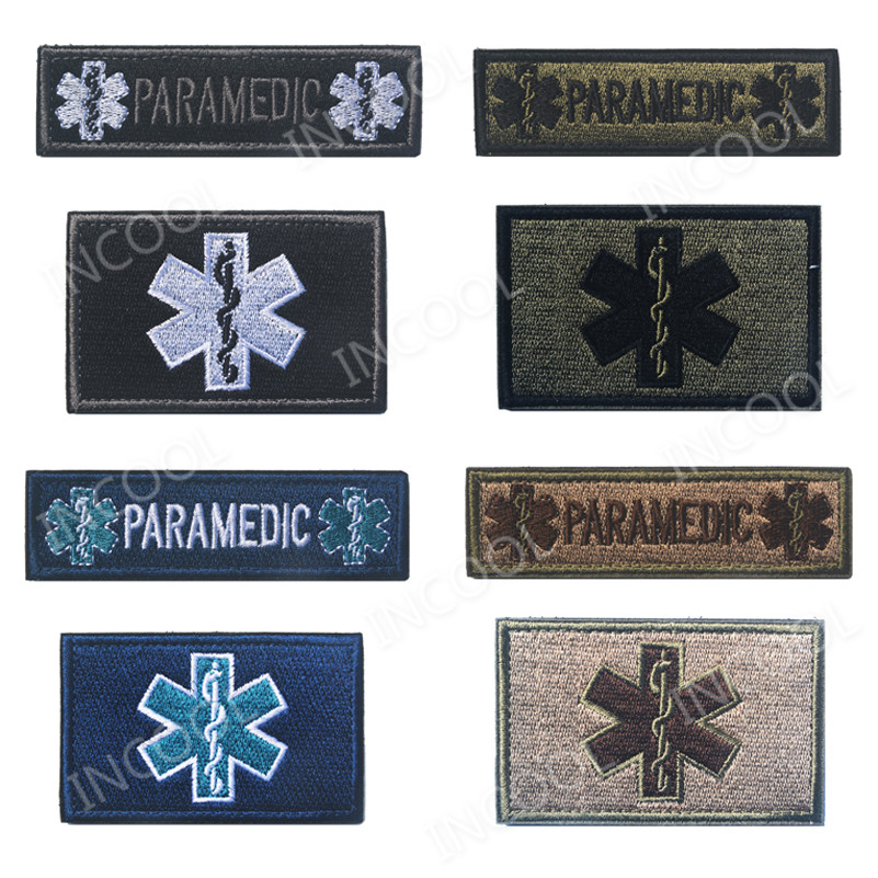 Music Memorabilia Reflective Medic Multicolor Cross Medical Rescue Emt Ir Patches Army Badge Tactical Military Patches Pvc Glow In Dark Badges
