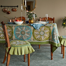 Bohemia rose Decorative table linens Vintage Tablecloth thick Rectangle round Wedding party Dining cover tea cloth