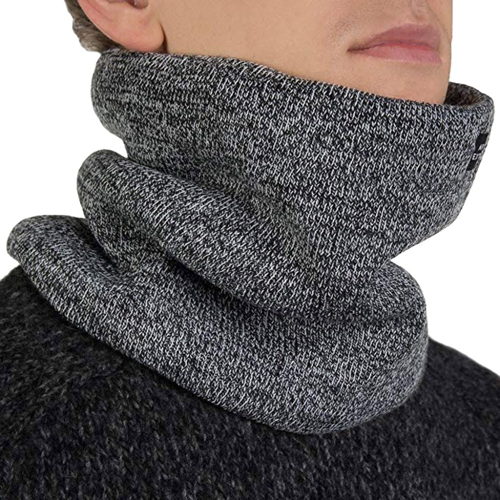 Ring-Scarves Mufflers Children Neck-Warmers Knitted Fleece Thick Winter Women Unisex