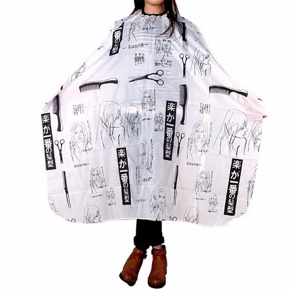 Official Website 2018 Fashion Product Personality Pattern Cutting Hair Waterproof Cloth Salon Barber Cape Hairdressing Barber Apron Haircut Capes Easy To Use Caps, Foils & Wraps Beauty & Health