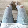 Hip Hop Men Casual Denim Men's Slim Jeans Pants Brand Biker Jeans Straight Skinny Ripped Jeans For Men Rock Ripped Jeans Homme
