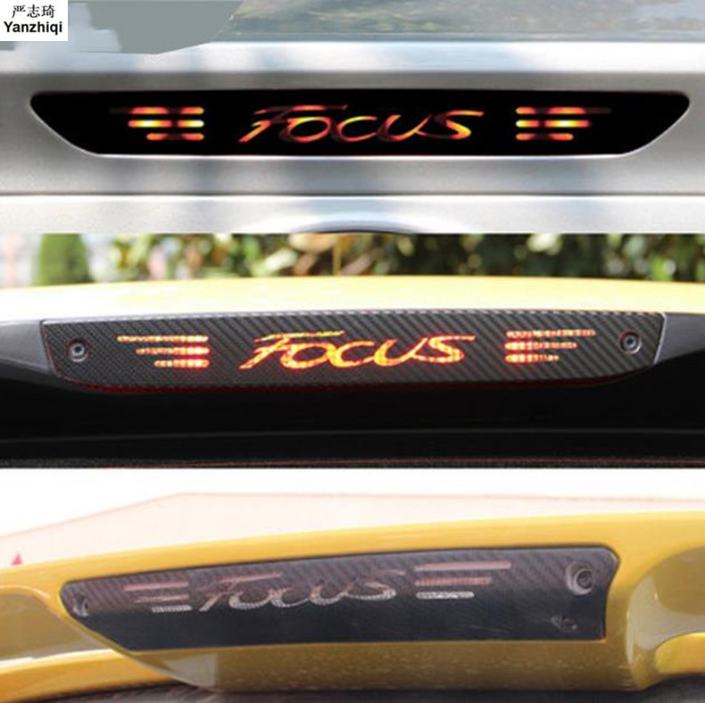 New Styling Car Cover Protective Carbon Fiber Vinyl Sticker High Brake Light Decorative Decal For Ford Focus MK2 MK3 2005 - 2018