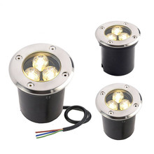 Factory Hot Sale 3x1W Warm/Pure/Cool White  LED Outdoor In under ground Garden Flood Light Spot Lamp Ip68 AC85~265V/DC12V