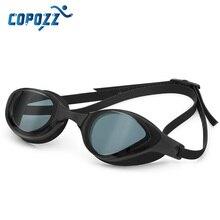 COPOZZ profesjonalne wodoodporne poszycie jasne podwójne przeciwmgielne gogle pływackie anty uv okulary męskie i damskie okulary pływackie z etui